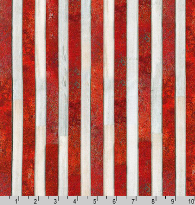 "Robert Kaufman ""Patriots"" # AWHD-18020-202 AMERICANA – Red and White Stripes MAIN"