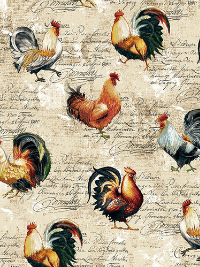 "Studio E ""Farmer's Market"" # 4454-44 - Roosters with Words THUMBNAIL"