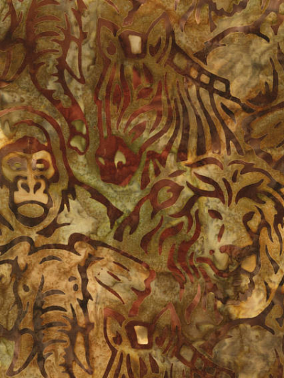 "Robert Kaufman ""Kalahari-6"" Batik # AMD-16091-267-Adventure — Safari Animals MAIN"