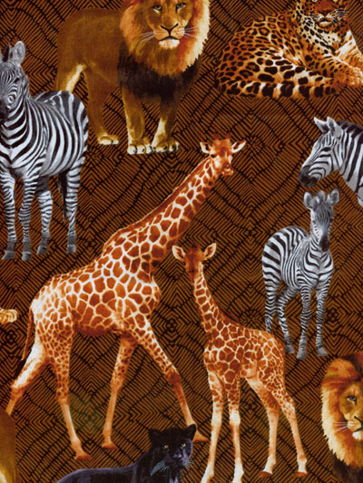 "Benartex - Kanvas Studio ""Sew Rousseau"" #06464-77 - Safari MAIN"