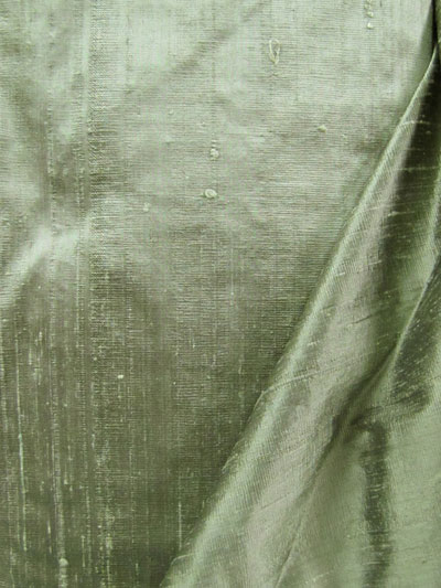Sage Green Dupioni Silk Fabric MAIN