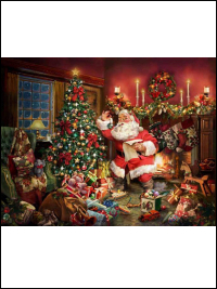 "Hoffman ""Ol St. Nick"" # Q4454-161 – Christmas Santa Digital Panel THUMBNAIL"