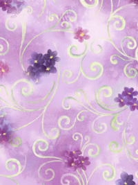 "QT Fabrics ""Hydrangea Blossoms"" # 1649-27530-L-Lavender - Scroll and Floral THUMBNAIL"