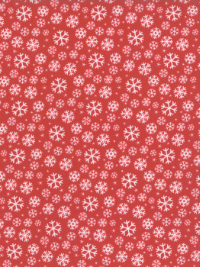 "Moda ""Jolly Season"" # 35345-14 - White Snowflakes on Red THUMBNAIL"