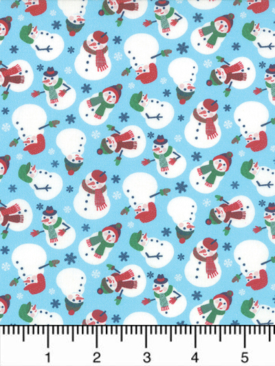 "Moda ""Jolly Season"" # 35342-12 - Snowmen on Light Blue MAIN"