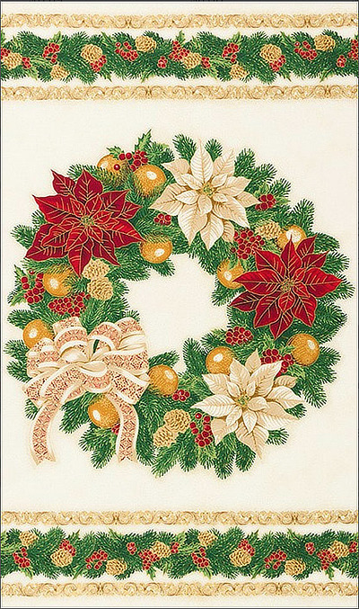 "Robert Kaufman ""Holiday Flourish"" -13 SRKM #19252-223 Holiday Panel MAIN"