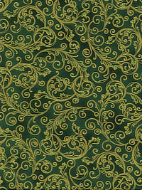 "Robert Kaufman ""Holiday Flourish"" -13 #SRKM- 19255-7 Green THUMBNAIL"