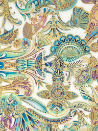 "Robert Kaufman ""Treasures of Alexandria"" # SRKM-19845-89-Opal — Multi Egyptian Themed Fabric THUMBNAIL"