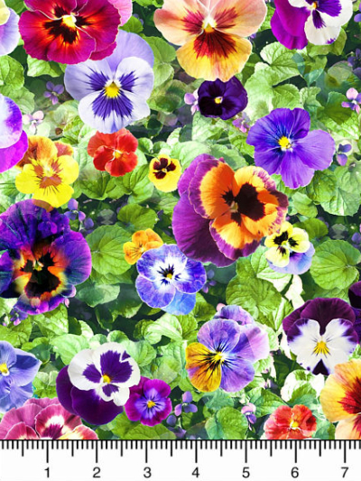 "Hoffman Digital ""Wanderlust"" # Q4435-178-LEAF - Pansies MAIN"