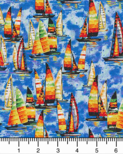 "Paintbrush Studio ""Portofino"" # 120-99071-Multi - Sailboats MAIN"