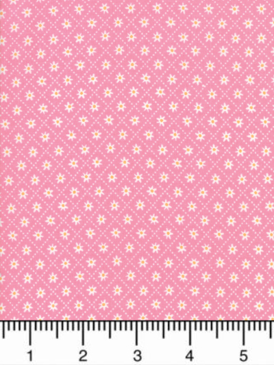 "Moda ""Sunday Picnic"" # 20678-15 - Small White Flowers on Pink MAIN"