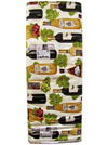 Robert Kaufman Vineyard Collection #AMK-13567-15 Ivory - Wine Bottles and Grapes SWATCH