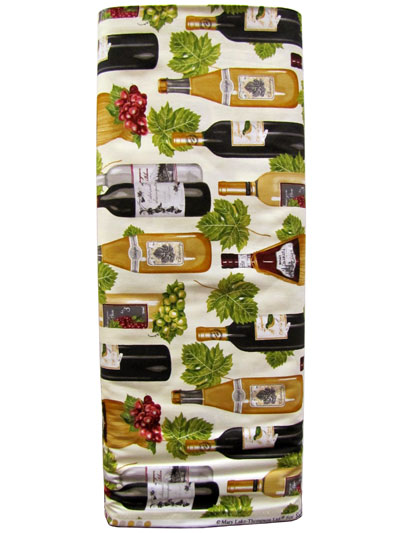 Robert Kaufman Vineyard Collection #AMK-13567-15 Ivory - Wine Bottles and Grapes MAIN