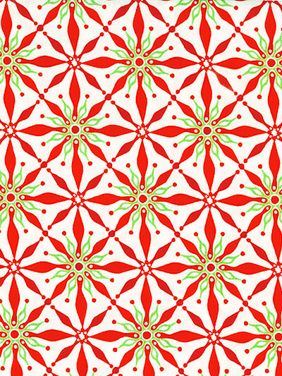 "Moda ""Solstice"" #27183 col. 11 — Christmas Poinsettia Pattern MAIN"
