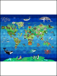 "Hoffman Digital ""Zookeeper"" # R4639-58-EARTH – Geometric Animals of the Earth Panel THUMBNAIL"