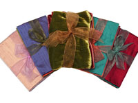 Fancy Fabrics — Dupioni Silk and Velveteen Sold by the Pack