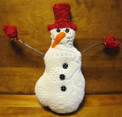 "Vintage Chenille ""Frozen Freddy and the Flashy Frosties"" Snowman MAIN"