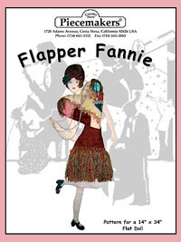 Flapper Fannie (flat doll) THUMBNAIL