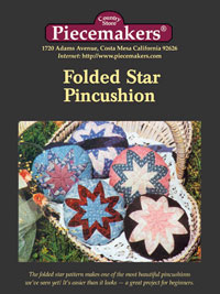 Folded Star Pincushion Pattern THUMBNAIL