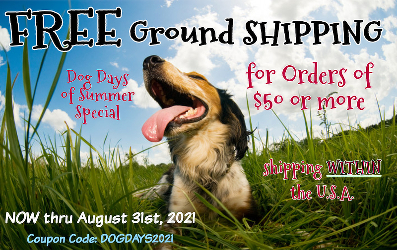 FREE Ground Shipping with $50 Order
