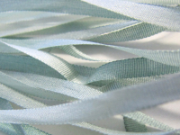Gibb & Hiney Hand-dyed Silk Ribbon, 3.5mm — Coastal Fog THUMBNAIL