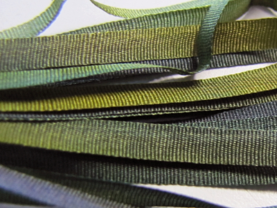 Gibb & Hiney Hand-dyed Silk Ribbon, 3.5mm — Evening Sage MAIN