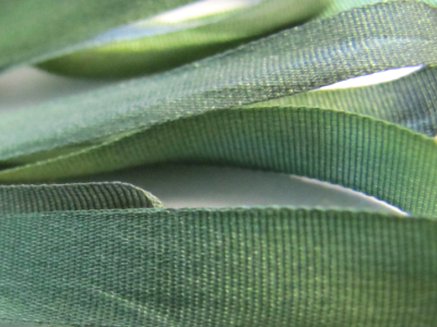 Gibb & Hiney Hand-dyed Silk Ribbon, 7mm — Evening Sage MAIN