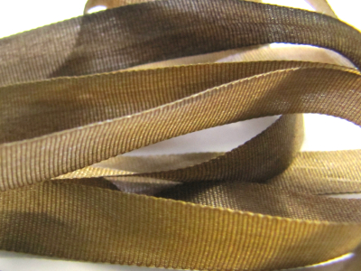 Gibb & Hiney Hand-dyed Silk Ribbon, 7mm — Gothic Brown MAIN