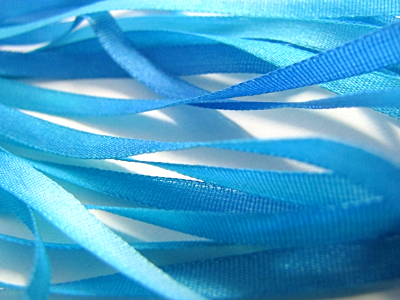 Gibb & Hiney Hand-dyed Silk Ribbon, 3.5mm — Island Blue MAIN