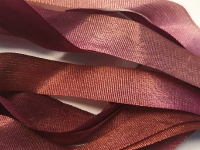 Gibb & Hiney Hand-dyed Silk Ribbon, 7mm — Rosehip MAIN