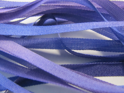 Gibb & Hiney Hand-dyed Silk Ribbon, 3.5mm — Viola MAIN