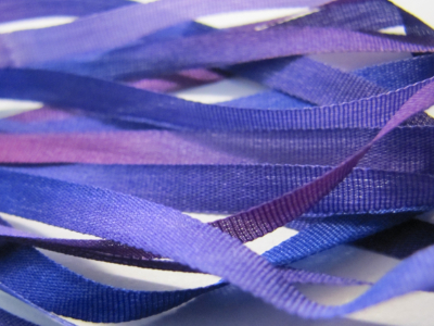 Gibb & Hiney Hand-dyed Silk Ribbon, 3.5mm — Violet Blue MAIN