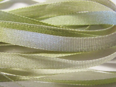 Gibb & Hiney Hand-dyed Silk Ribbon, 3.5mm — Willow MAIN