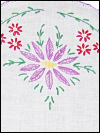Vintage Table Runner with Embroidered Flowers on Ends SWATCH
