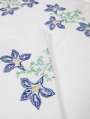 Vintage Pillowcases with Blue Embroidered Flowers—Set of Two SWATCH