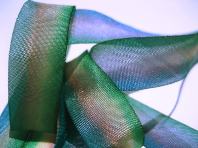 "Hanah Hand-dyed Silk Ribbon, 7/16"" — Auralina MAIN"