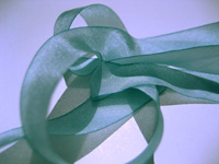 "Hanah Hand-dyed Silk Ribbon, 7/16"" — Blue Lilies THUMBNAIL"