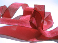 "Hanah Hand-dyed Silk Ribbon, 5/8"" — Bougainvillea THUMBNAIL"