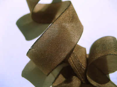 "Hanah Hand-dyed Silk Ribbon, 7/16"" — Fawn MAIN"