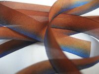 "Hanah Hand-dyed Silk Ribbon, 7/16"" — Indigo Earth THUMBNAIL"