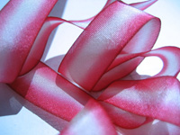 "Hanah Hand-dyed Silk Ribbon, 7/16"" — Peppermint THUMBNAIL"