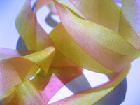 "Hanah Hand-dyed Silk Ribbon, 1 1/2"" — Rose Nectar THUMBNAIL"