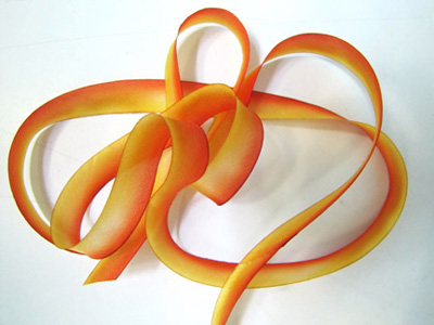 "Hanah Hand-dyed Silk Ribbon, 7/16"" — Rudbeckia MAIN"