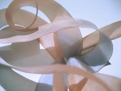 "Hanah Hand-dyed Silk Ribbon, 7/16"" — Sunmist MAIN"