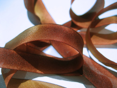 "Hanah Hand-dyed Silk Ribbon, 7/16"" — Tuscany MAIN"