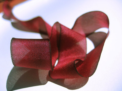 "Hanah Hand-dyed Silk Ribbon, 7/16"" — Valentina MAIN"