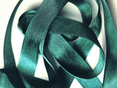 "Woven Edge Rayon Ribbon, 1/2"" - Carafe Green MAIN"