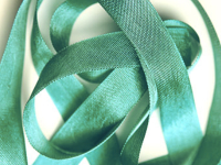"Woven Edge Rayon Ribbon, 1/2"" - Gem Green THUMBNAIL"