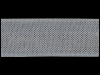"Woven Edge Rayon Ribbon, 1/2"" - Gun Grey SWATCH"