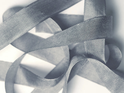 "Woven Edge Rayon Ribbon, 1/2"" - Gun Grey MAIN"